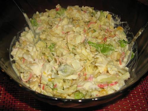 Крабовый салат в корзинках смотреть фото
